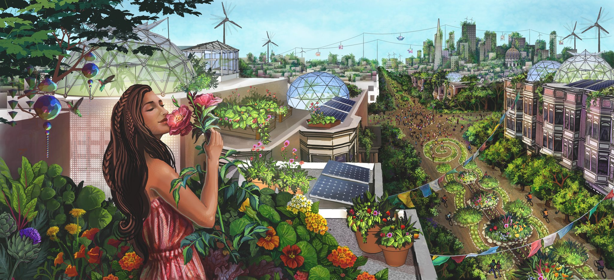 Ecocity 2048 - Illustration by Jessica Perlstein